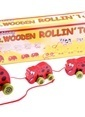 Learning Toys 4PCS Wooden Rolling Toys Renkli